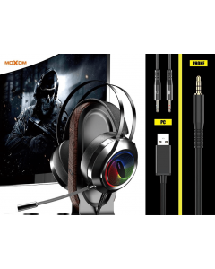 MOXOM MX-EP21 Wired Game Headphone 3D Surround Sound with Detachable Microphone